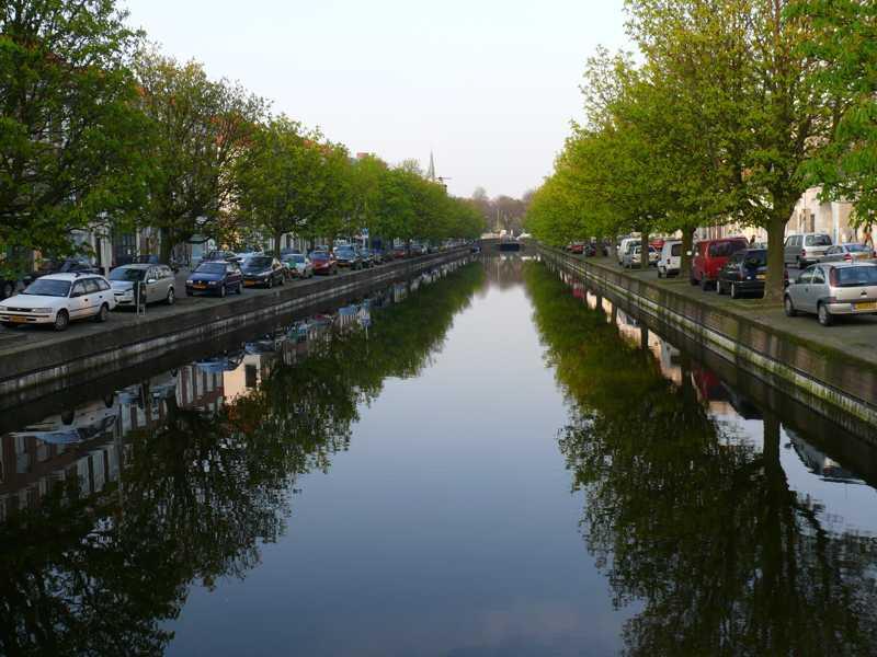 Veenkade / Noordwal gracht met bomen