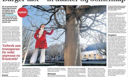 AD artikel:  Burger tast in het duister bij bomenkap