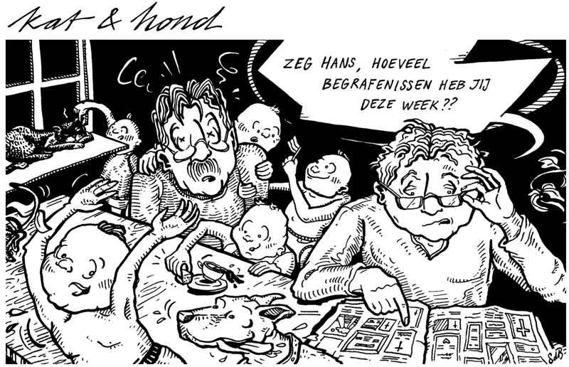 Striptekening: Kat & Hond van Sophia den Breems