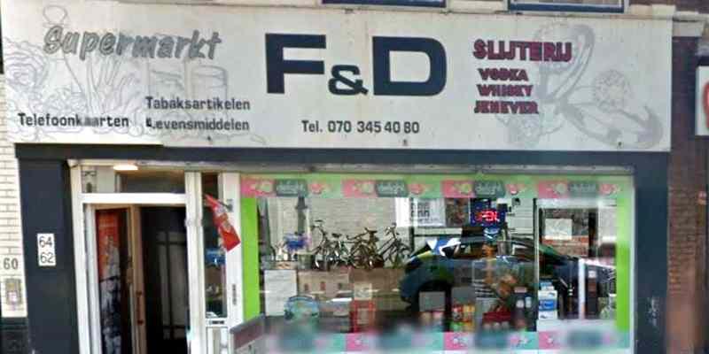 F&D supermarkt avondwinkel slijterij, Zoutmanstraat, Zeeheldenkwartier, Den Haag