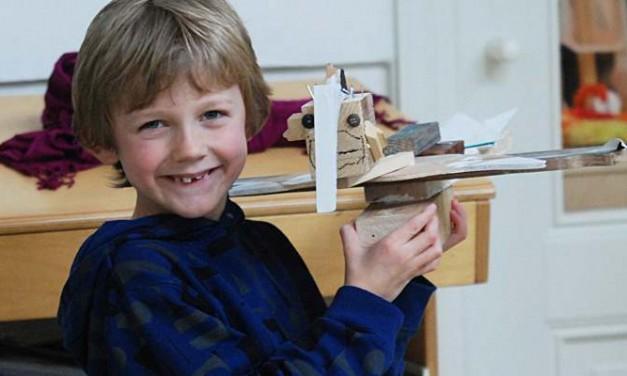 Wonderlijke ontwerpen maken In november bij het Haags Kinderatelier
