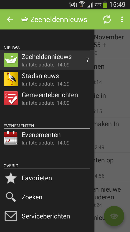 ZeeheldenNieuws App voor Android