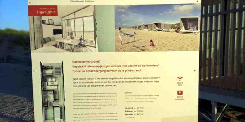 reclamebord prive strand kijkduin