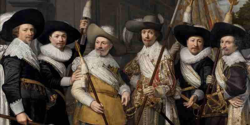 J.A. van Ravesteyn, de Officieren van het Witte Vendel der Haagse Schutterij, 1633. Collectie Haags Historisch Museum