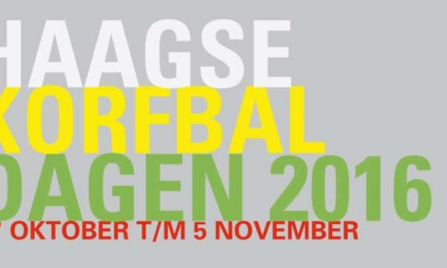 31ste Haagse korfbaldagen van 27 oktober t/m 5 november 2016