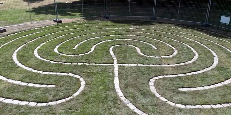 Meditatief labyrint in de Haagse Paleistuin