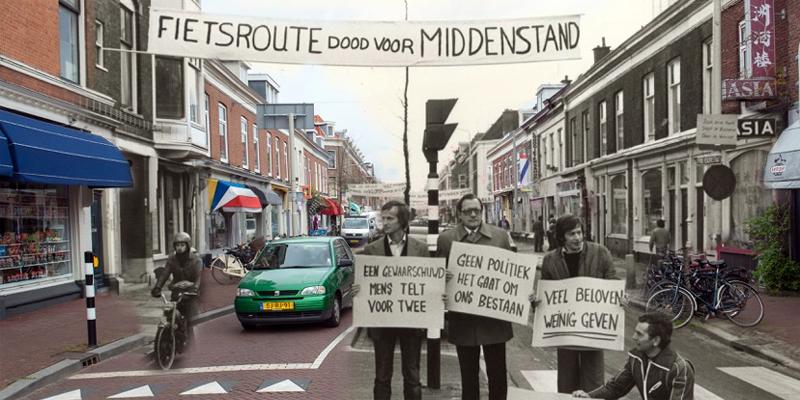 Winkeliersprotest Prins Hendrikstraat in zomeruitgave Haagse Historie
